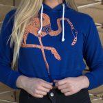 Belly-hoody flamingo blau 2